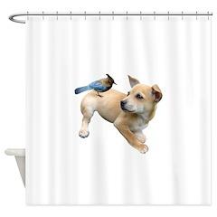Puppy Jay Shower Curtain
