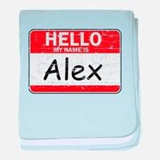 Hello My name is Alex baby blanket