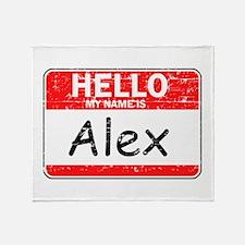 Hello My name is Alex Throw Blanket
