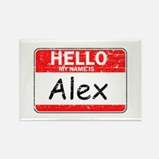 Hello My name is Alex Rectangle Magnet