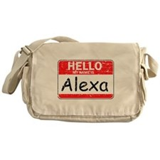 Hello My name is Alexa Messenger Bag