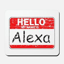 Hello My name is Alexa Mousepad