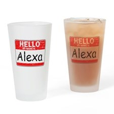 Hello My name is Alexa Drinking Glass