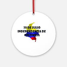 Indepencia de Colombia Ornament (Round)