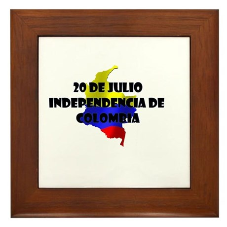 Indepencia de Colombia Framed Tile