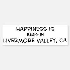 Livermore Valley - Happiness Bumper Bumper Bumper Sticker