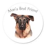 Man's Best Friend Round Car Magnet