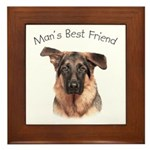 Man's Best Friend Framed Tile
