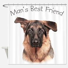 Man's Best Friend Shower Curtain