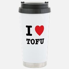 I Heart Tofu Travel Mug