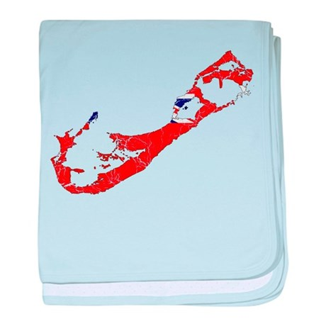 Bermuda flag and map baby blanket by flagandmapcracked for Bermuda flag coloring page