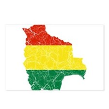 Bolivia Flag And Map Postcards (Package of 8)