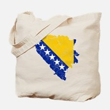 Bosnia And Herzegovina Flag And Map Tote Bag