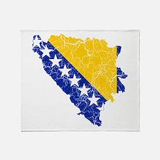 Bosnia And Herzegovina Flag And Map Stadium Blank