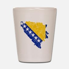 Bosnia And Herzegovina Flag And Map Shot Glass