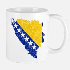 Bosnia And Herzegovina Flag And Map Mug