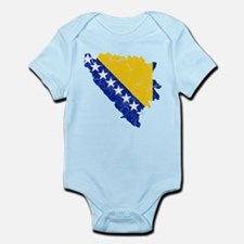 Bosnia And Herzegovina Flag And Map Infant Bodysui
