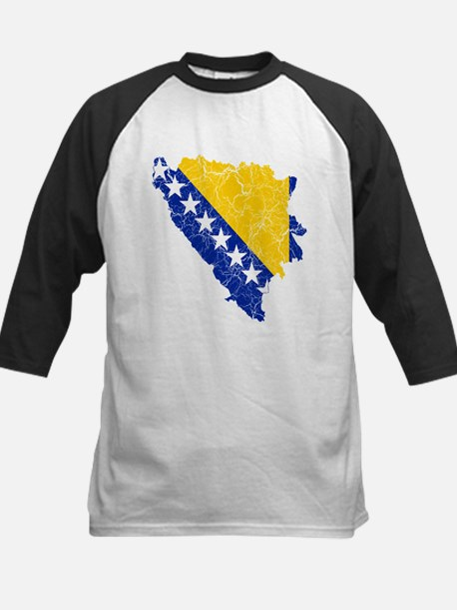 Bosnia And Herzegovina Flag And Map Tee