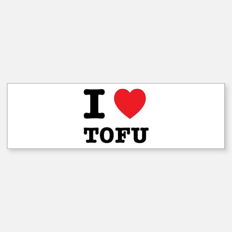 I Heart Tofu Bumper Bumper Sticker