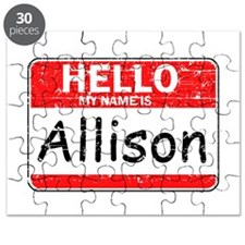 Hello My name is Allison Puzzle