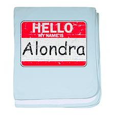 Hello My name is Alondra baby blanket