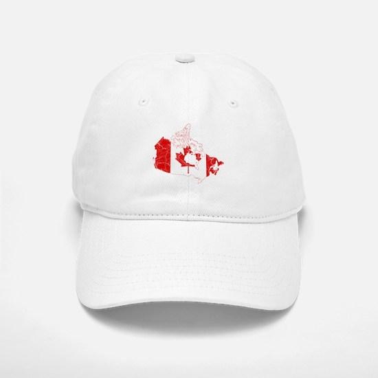 Canada Flag And Map Baseball Baseball Cap