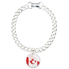 Canada Flag And Map Bracelet