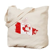 Canada Flag And Map Tote Bag