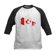 Canada Flag And Map Tee