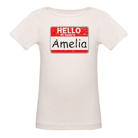 Hello My name is Amelia Organic Baby T-Shirt