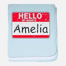 Hello My name is Amelia baby blanket