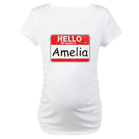 Hello My name is Amelia Maternity T-Shirt