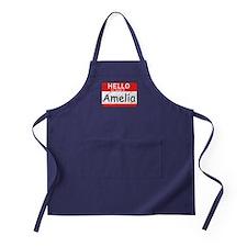 Hello My name is Amelia Apron (dark)