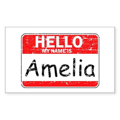 Hello My name is Amelia Sticker (Rectangle 50 pk)