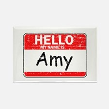 Hello My name is Amy Rectangle Magnet