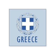 "Greece Coat Of Arms Square Sticker 3"" x 3"""