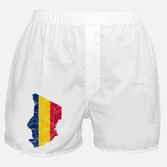 Chad Flag And Map Boxer Shorts