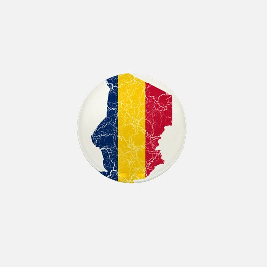 Chad Flag And Map Mini Button