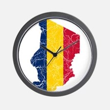 Chad Flag And Map Wall Clock