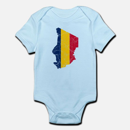 Chad Flag And Map Infant Bodysuit