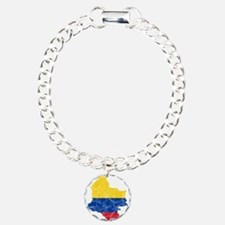 Colombia Flag And Map Bracelet