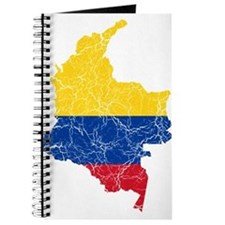 Colombia Flag And Map Journal