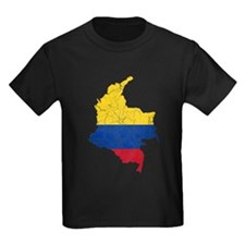 Colombia Flag And Map T