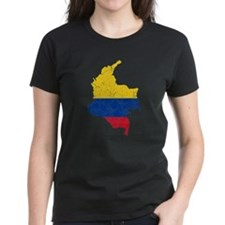 Colombia Flag And Map Tee
