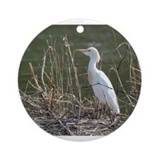 Cattle Egret Ornament (Round)