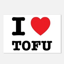 I Heart Tofu Postcards (Package of 8)