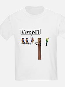 He has WiFi T-Shirt