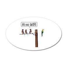 He has WiFi Wall Decal