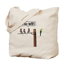 He has WiFi Tote Bag