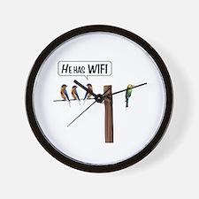 He has WiFi Wall Clock